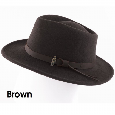 Jack Murphy Boston Jack Felt Hat - Crush-able with Water Repellent Fabric